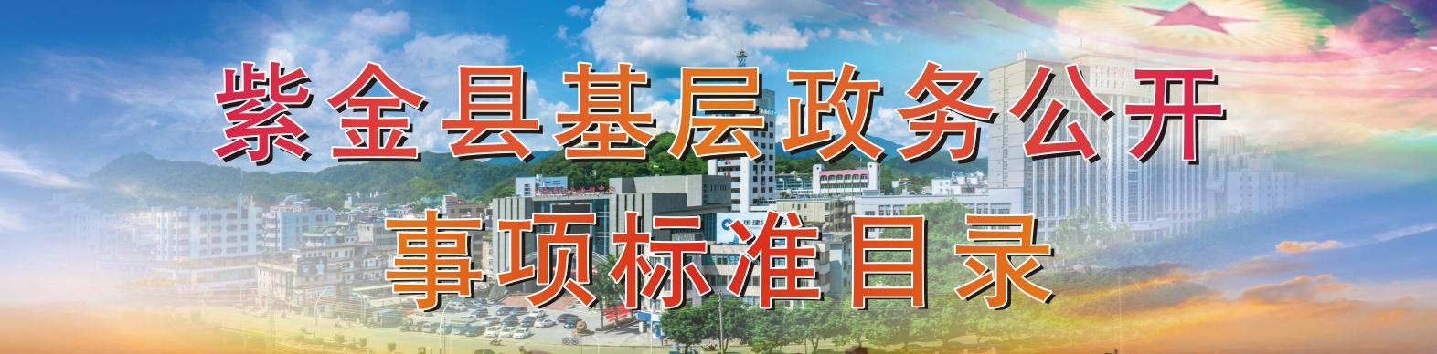 紫金县基层政务公开事项标准目录